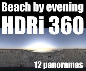 360 hdri beach by night pack