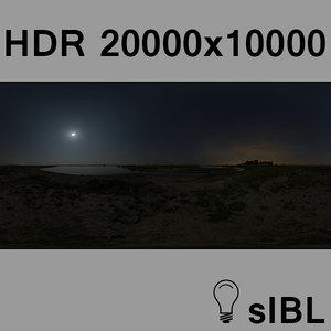 Full moon night panorama
