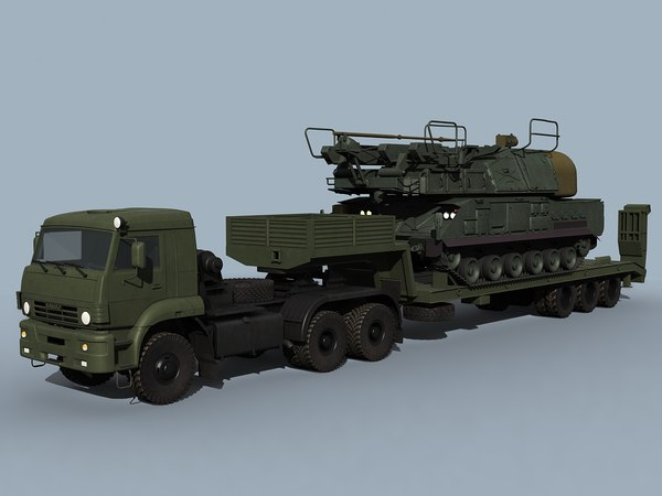 3d model kamaz-65225 sa-11 gadfly combo