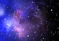 Blue space nebula C22