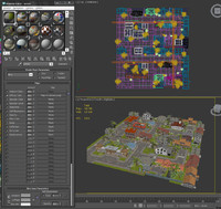 3d model city small block