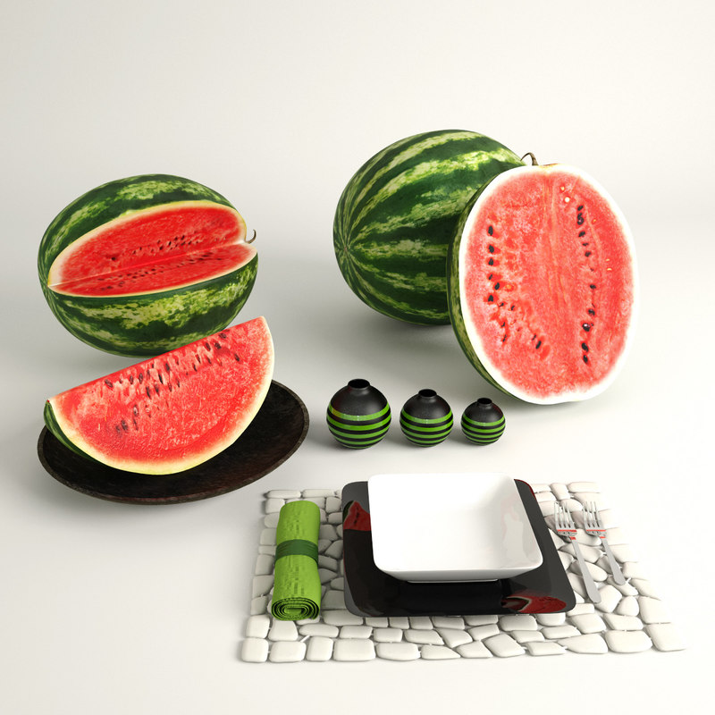 sliced watermelons x