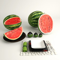 sliced watermelons 3d max