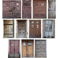 Old Wooden Doors Set