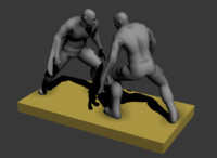 3ds max character fighting
