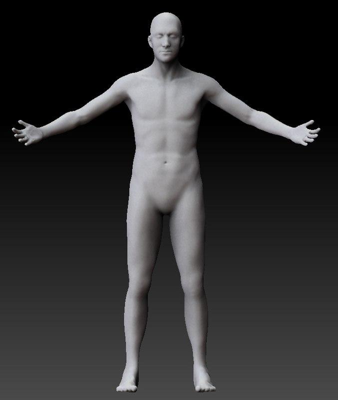 pseudo scanned male body 3d obj