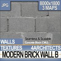 Modern Brick Wall B
