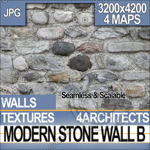 Modern Stone Wall B