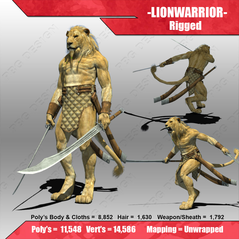 lion warrior fantasy max
