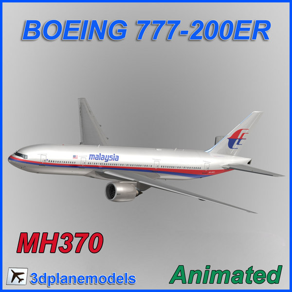 3ds max aircraft malaysia airlines boeing