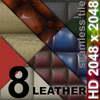 8 x Leather | Tileable | 2048px