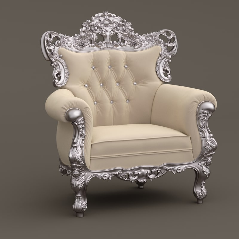 3d fabulous armchair model