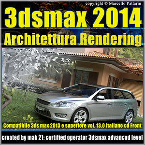 3ds max 2014 Architettura Rendering v.13 Italiano cd front