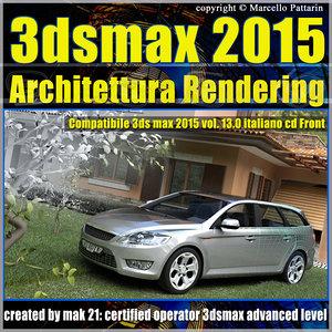 Video Corso 3ds max 2015 Architettura Rendering vol13_cd front