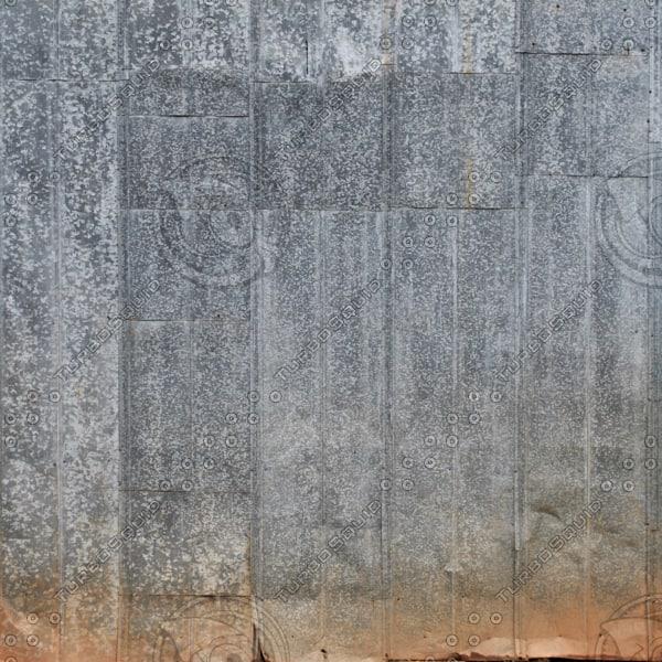 Old Galvanized Steel Wall Panel, Tiles X