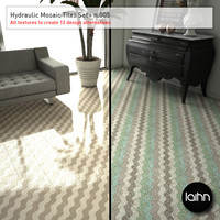 Hydraulic Mosaic Tiles Set - n.005