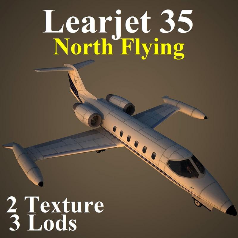3d model of learjet 35 nfa