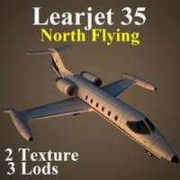 3d model of learjet 35 nfa