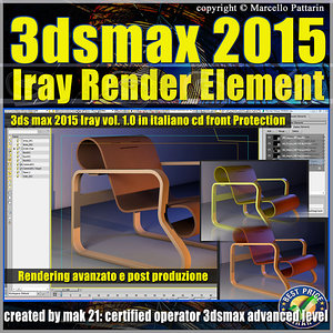 3ds max 2015 Iray Render Element Volume 1.0 cd front italiano