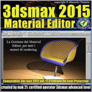 3ds max 2015 Material Editor Vol. 17 Italiano cd front