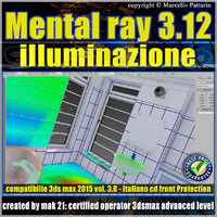 Mental ray 3.12 in 3dsmax 2015 Vol.3 illuminazione cd front