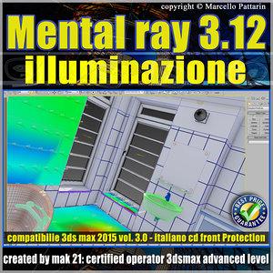 Mental ray 3.12 in 3dsmax 2015 Vol.3 illuminazione cd front