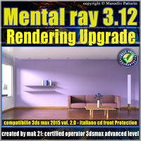Mental Ray 3.12 3ds max 2015 Vol.2 Rendering Upgrade cd front