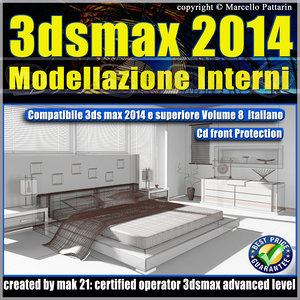 3ds max 2014 Modellazione Interni v.8.0 Italiano cd front