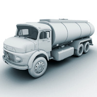 3d truck benz lk model