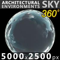 Sky 360 Clouded 002 5000x2500