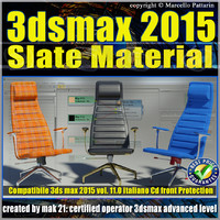 3ds max 2015 Slate Material v.11 Italiano cd front