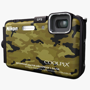 3ds max waterproof digital camera nikon