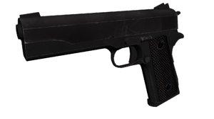 1911 pistol 3d obj