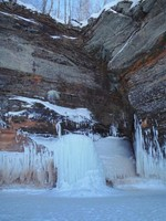 Frozen Waterfall in the Winter