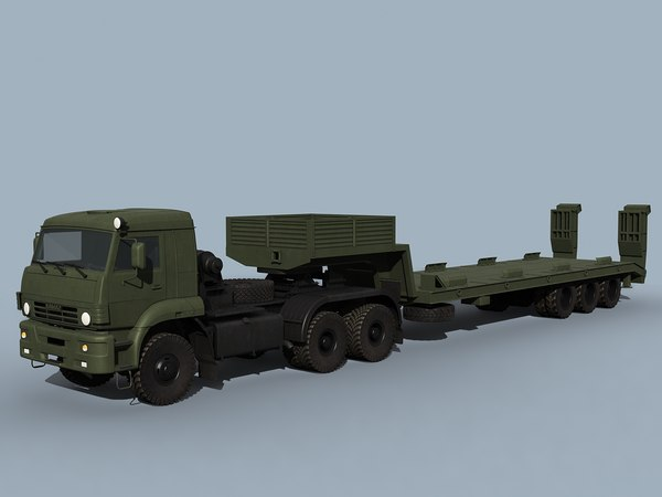 3d kamaz-65225 tank transporter