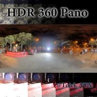 HDR 360 Pano Rio citysquare night