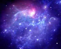 Purple space nebula