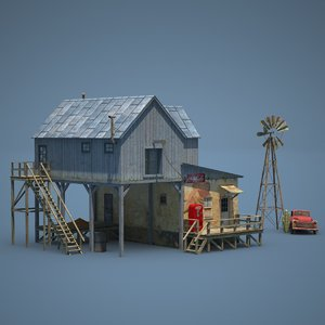 3d american farm shop old