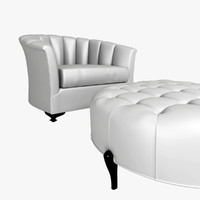 antique pouf armchair silver max