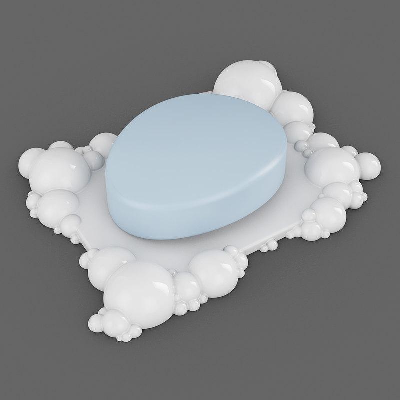 3d bubbles soap dish