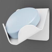 3d wall soap dish model