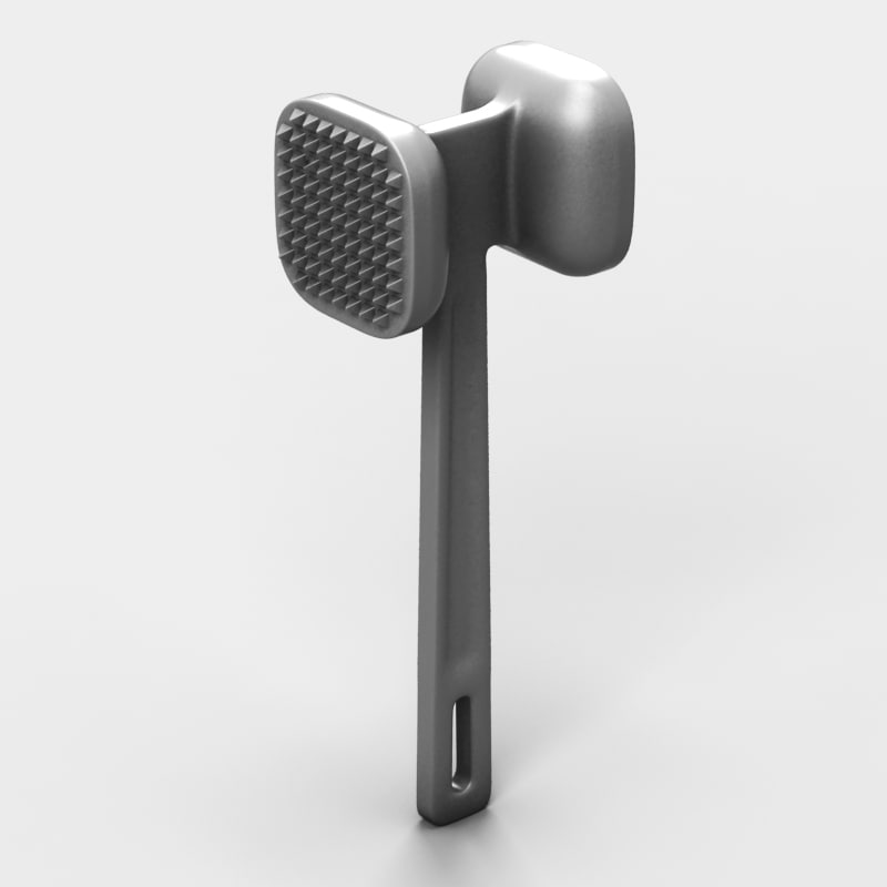 3d model of stainless kitchen hammer