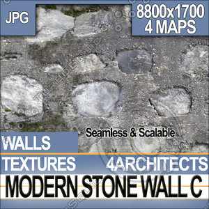 Modern Stone Wall C