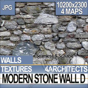 Modern Stone Wall D