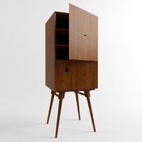 3d model fibonacci cabinet