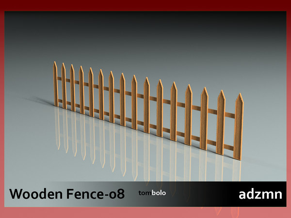 3ds max wooden fence wood