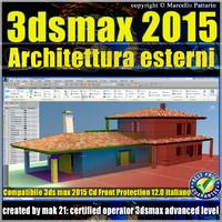 3ds max 2015 Architettura Esterni 12.0 Italiano cd front