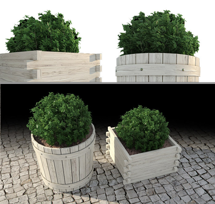 outdoor plants 3 3d max