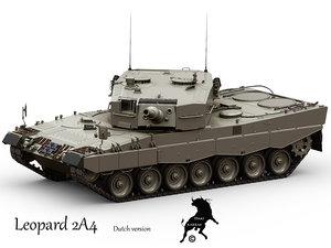 3dsmax leopard 2a4 tank version