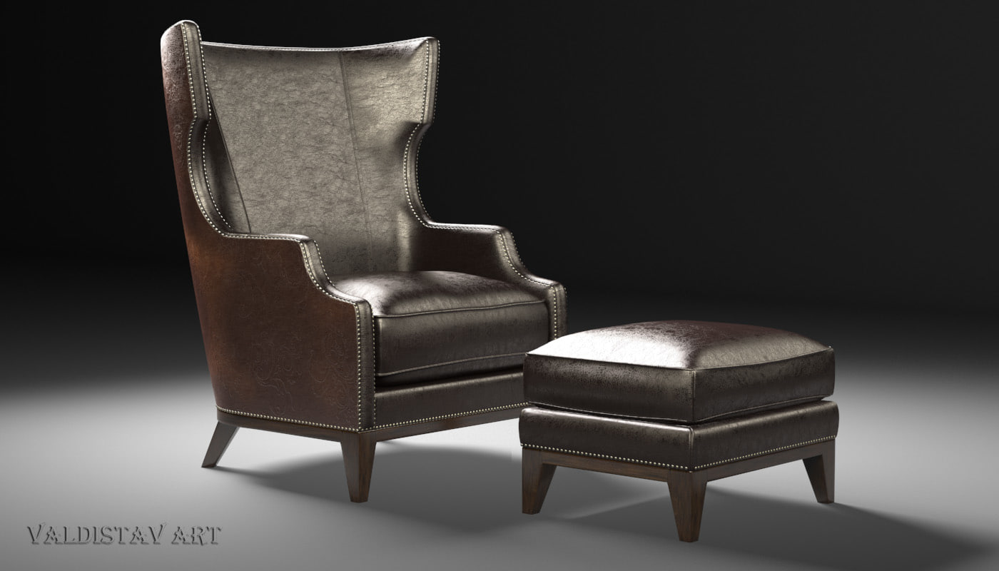 max forbes wing chair ottoman